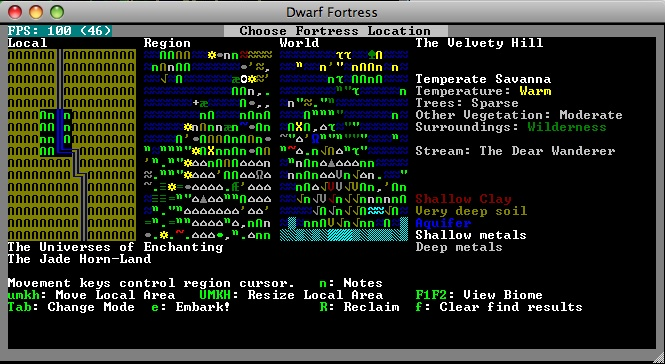 Choose Fortress Location screen (v0.31.19)